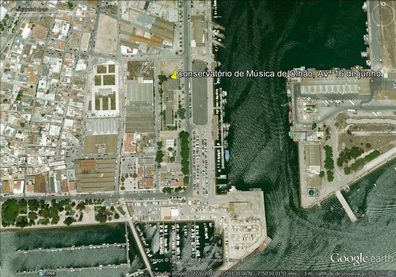 Google earth- Conservatório Olhão